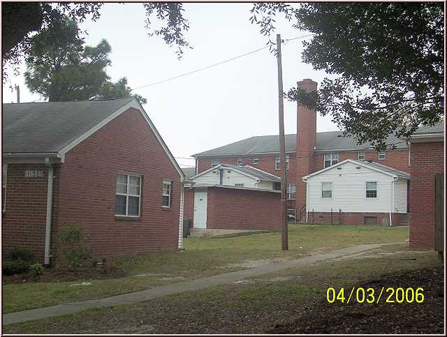 Looking northwest between 544 Castle Dr. and 301 N. Dougherty ...