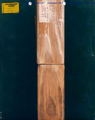 Exhibits A and A12: Comparison of wood grain