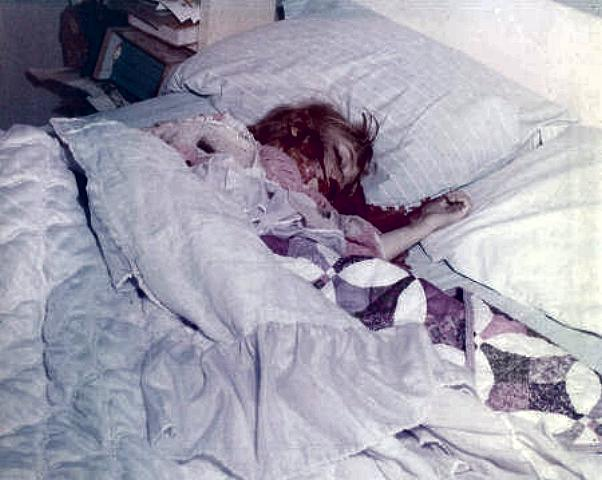 Body of Kimberley MacDonald in south bedroom