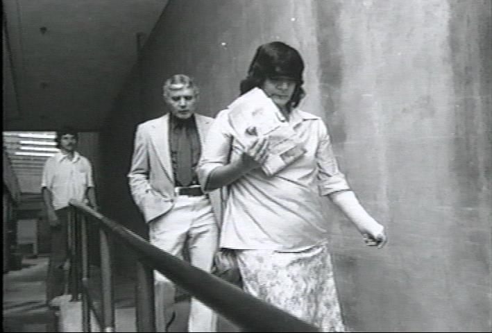 Helena Stoeckley and Jimmy Britt at the 1979 trial