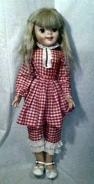 "1960 Uneeda Walt Disney Pollyanna doll. The doll shown here was described by its owner as being 30"" tall."