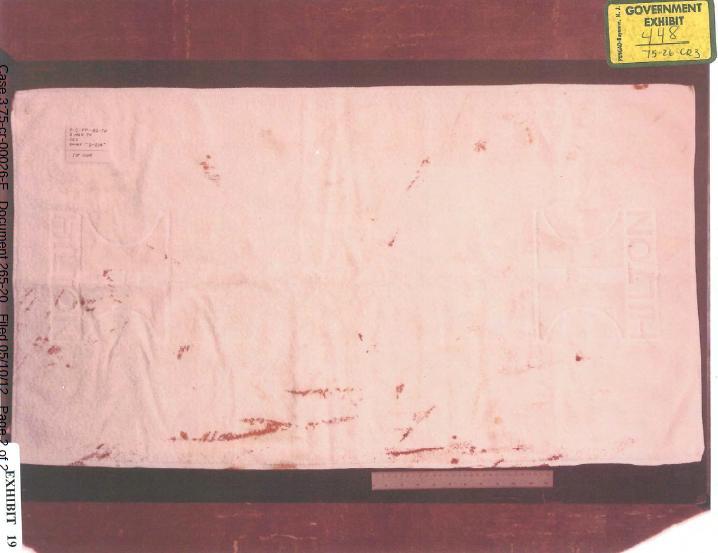 Hilton bathmat found on body of Colette MacDonald